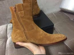 nubuck leather high end half boots fashion wild casual genuine leather shoes factory outet real picture sl p personality ankle boots heels boot from