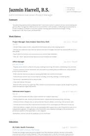 Sample Resume Of Data Entry Clerk