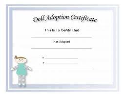 Pet Adoption Certificate Template 40 Real Fake Adoption Certificate Templates Printable