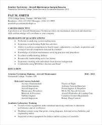 Sample Resume For Electronics Technician Sample Resume Electronics Technician Aviation Electronic Technician