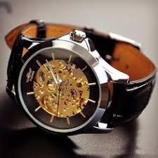men s handmade antique leather wrist watch brass mirror watches image of steampunk watch for men fashion gold leather automatic mechanical watches m104