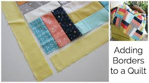 How to Add a Border to a Quilt Top - YouTube & How to Add a Border to a Quilt Top Adamdwight.com