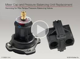 mixer cap and pressure balancing unit replacement for rite temp valves