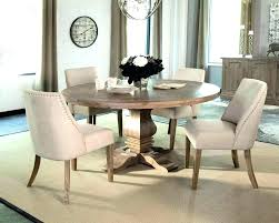 rustic round dining table small chic room