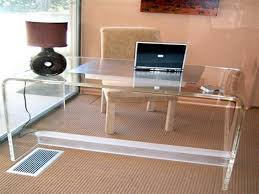 image of clear acrylic desk mat