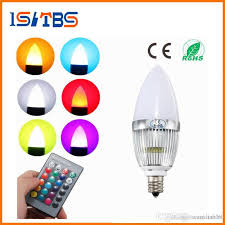 e12 rgb led bulb 3w flash color changing chandelier candelabra candle light led lamp remote controller lighting ac85 265v led night light bulb dimmable