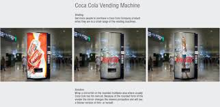 Marketing Vending Machines Inspiration CocaCola Guerrilla Marketing Mirror Vending Machine In A Gorilla