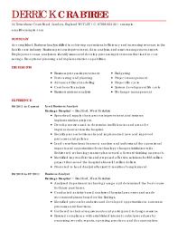 Business Analyst Resume Template Template Adisagt