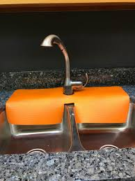 Orange Kitchen Sink Faucet Splash Guard Guards Areas Around The