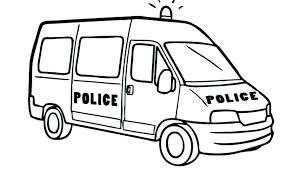 Police Car Coloring Pages To Print Police Car Coloring Pages Police