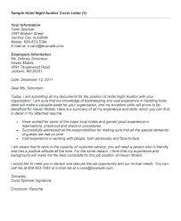 Night Auditor Cover Letter Audit Cover Letter