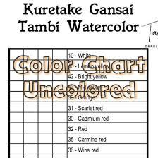 Gansai Tambi Color Chart Kuretake Gansai Tambi Watercolor Color Chart 36 Colors