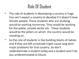 role of students in developing nation the role of students in developing nation 2
