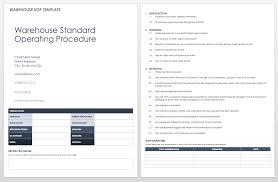 standard operating procedures template word standard operating procedures templates smartsheet