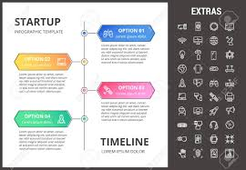 Startup Timeline Template Startup Timeline Infographic Template Elements And Icons