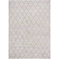 birney striped gray 6x9 rug wool com