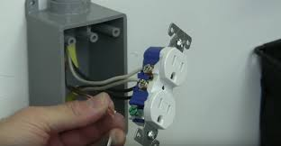 how to install an electrical outlet from a sub panel