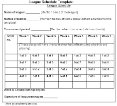 12 Team Schedule Template Team Softball Schedule Template Team