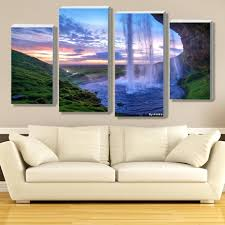 charming digital wall art arts lighted moving waterfall aliexpress buy modular painting iceland on moving digital wall art with digital wall art arsmart fo