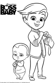 Small Picture The Boss Baby and Tim Templeton coloring page Free Printable