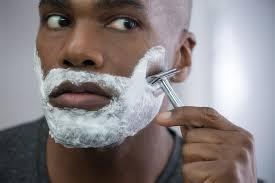 Black skin men hair facial ingrown