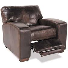 aspen all leather pushback recliner
