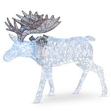 Moose Christmas Lights National Tree Company 50 In Moose With Glitter And 200 Cool