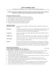 Stunning Program Analyst Resume Pictures Simple Resume Office
