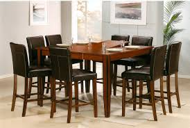 dining room table extraordinary brown square wood pub style dining table with 8 chairs