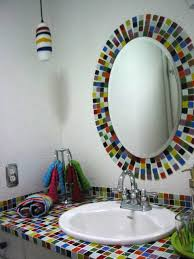 Perfect Pop Of Color For A Girlu0027s Bathroom  Hendel Homes Colorful Bathroom Mirrors