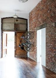 with exposed brick walls