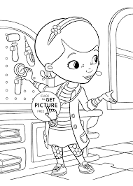 Small Picture McStuffins medical instruments coloring pages for kids printable