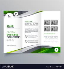 Creative Trifold Brochure Design With Green And