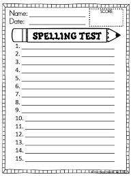 Spelling Test Template Mesmerizing Spelling Test Sheet Erkaljonathandedecker