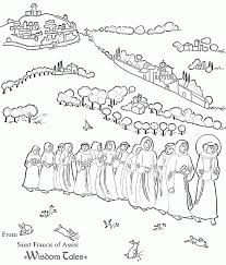 St Francis Of Assisi Coloring Page Coloring Home