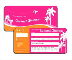 Airline Ticket Template Word Simple Superb Plane Ticket Invitation Template Ms Word Airline Saleonline