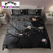 black butler blanket bed sheets covers over designs black butler blanket bed sheets covers over 70 designs anime print house