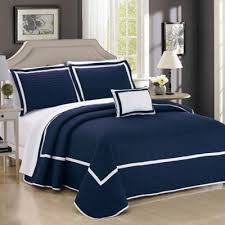 Buy Navy Blue Twin Quilt from Bed Bath & Beyond & Chic Home Neal Twin Quilt Set in Navy Adamdwight.com