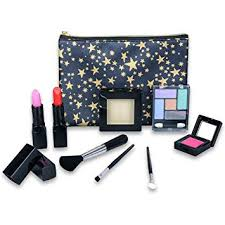 tokia cosmetics set for little s all in one real kids makeup kit with portable bag makeup amazon canada