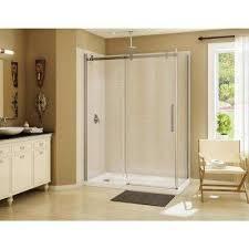 frameless corner sliding shower