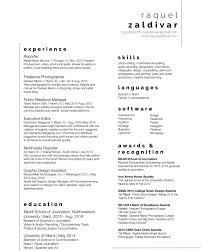 Journalism Resume Sample Internship Template Cover Letter Examples
