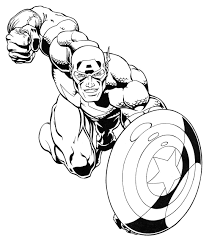 Marvel Coloring Pages Captain America Coloringstar