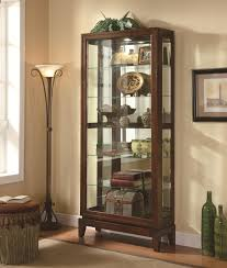 Curio Cabinet Lights Cabinets 6 Shelf Curio Cabinet With Mirrored Back And Can Lighting