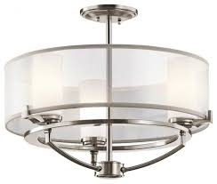 saldana chandelier semi flush 3 light classic pewter