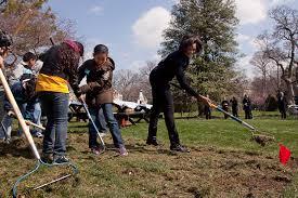Michelle Obama Kitchen Garden Filemichelle Obama Breaks Ground On White House Kitchen Garden 3