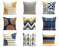 orange grey outdoor pillows black and white striped pillow covers navy