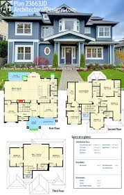 Image Drawings Architectural Designs House Plan 23663jd Not Only Gives You 3story Craftsmanstyle Beauty But Also Matching Detached 2car Garage Apartment Pinterest Plan 23663jd Bedroom Beauty With Third Floor Game Room And