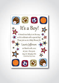 Sports Theme Baby Shower Printable Invitation  DIY Birthday Baby Shower Invitations Sports Theme