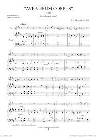 ave verum corpus sheet music mozart ave verum corpus sheet music for violin and piano