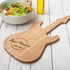 personalised guitar chopping board
